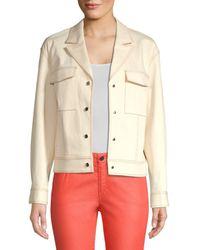 Lafayette 148 New York Women's Theodosia Denim Jacket - Natural - Size L