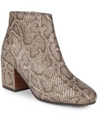 Gentle Souls - Blaise Leather Snake Print Ankle Boots - Lyst
