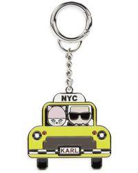 Karl Lagerfeld Nyc Taxi Keychain - Black