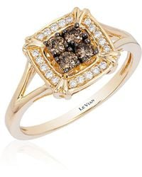 Le Vian - Chocolatier® Honey Gold® Framed Cluster Ring - Lyst