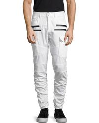 American Stitch Men's Twill Cargo Trousers - White - Size L