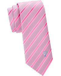 2fa47e6b64 Diagonal Stripe & Dot Silk Tie - Pink