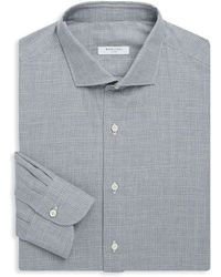Boglioli - Slim-fit Plaid Cotton Dress Shirt - Lyst