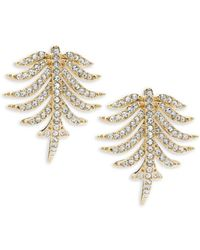 Adriana Orsini Women's Barbara Pavé Crystal Button Earrings - Metallic