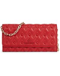 Valentino By Mario Valentino Cesare Embellished Leather Chain Wallet - Red