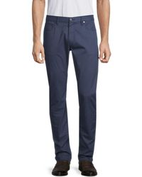 Michael Kors Parker Micro Dash Slim-fit Pants - Blue