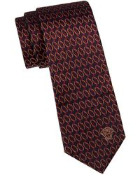 Versace - Embroidered Silk Tie - Lyst