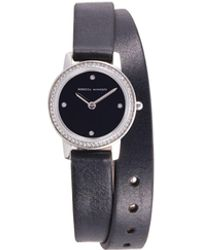 Rebecca Minkoff Stainless Steel, Crystal & Leather-strap Watch - Multicolour