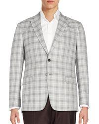 Armani - Windowpane Sportcoat - Lyst