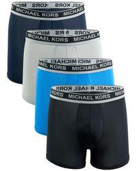 Michael Kors Men's 4-pack Logo Boxer Briefs - Black - Size M