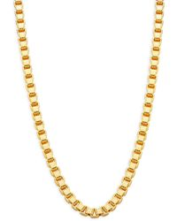 Effy Goldplated Sterling Silver Box Chain Necklace - Metallic