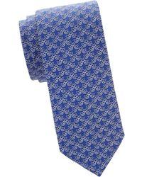 8d3b1a0cee52 Ferragamo Mini Mushroom Silk Tie in Blue for Men - Lyst