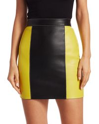 Kirin Leather Combo Mini Skirt - Multicolor