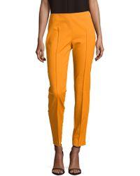 Akris Melissa Solid Cotton-blend Trousers - Orange