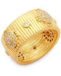 Freida Rothman - Crystal And Sterling Silver Amazonian Band Ring - Lyst