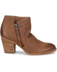 Sam Edelman Macon Leather Booties - Brown