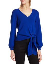 MILLY Women's Twist Tie Hem Jumper - Cobalt - Size Xl - Blue