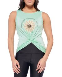 Electric Yoga Women's Spread Love Sleeveless Top - Mint - Size S - Green