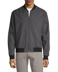 Vince Worsted Bomber Jacket - Gray