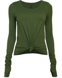 Phat Buddha Flatbush Ave Knotted Top - Green