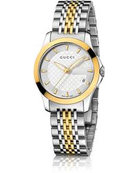 Gucci G-timeless Two-tone Stainless Steel Bracelet Watch - Metallic