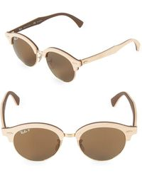 Ray-Ban - 51mm Clubmaster Wood Sunglasses - Lyst