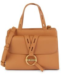 Love Moschino Faux Leather Top Handle Bag - Multicolor