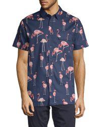 Sovereign Code - Loiter Flamingo Short-sleeve Shirt - Lyst
