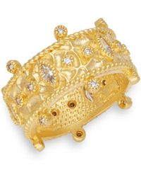 Freida Rothman - Classic Cubic Zirconia, Sterling Silver & 14k Goldplated Windsor Ring - Lyst