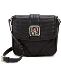 Love Moschino - Flap Faux Leather Crossbody Bag - Lyst