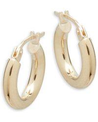 Saks Fifth Avenue - 14k Yellow Gold Hoop Earrings - Lyst