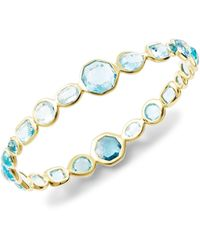 Ippolita 18k Yellow Gold & Swiss Blue Topaz Bangle Bracelet