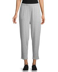 Eileen Fisher Heathered Ankle Pants - Gray