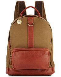 Will Leather Goods - Signature Canvas & Leather Backpack - Lyst