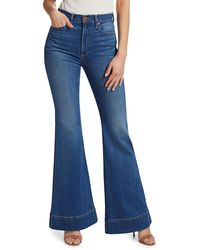 Alice + Olivia Women's Beautiful High-rise Bell Jeans - Off The Cuff - Size 26 - Blue
