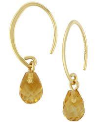 Saks Fifth Avenue - 14k Yellow Gold & Citrine Drop Earrings - Lyst