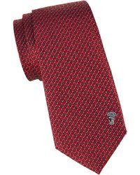 Versace Geometric Silk Tie - Pink