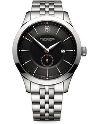 Victorinox - Alliance Sterling Silver Analog Bracelet Watch - Lyst