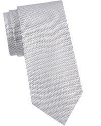Armani Men's Textured Silk Tie - Clay - Multicolour