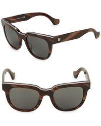Balenciaga - 50mm Square Sunglasses - Lyst