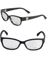 Gucci - 59mm Rectangle Optical Glasses - Lyst
