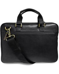 Boconi - Zipster Leather Breifcase - Lyst