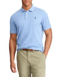 Ralph Lauren Stretch Mesh Polo - Blue