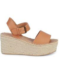 Soludos Minorca Leather Espadrille Platform Sandals - Multicolour