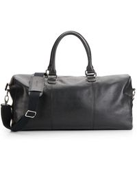 Cole Haan Leather Duffle Bag - Black