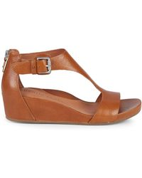 Gentle Souls - Leather Wedge Sandals - Lyst