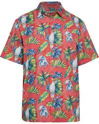 Tommy Bahama Tahitian Tweets Tropical-print Shirt - Pink