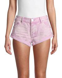 One Teaspoon Bandits Denim Shorts - Pink