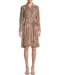 Nanette Lepore Floral-print Pintuck Shirtdress - Multicolour
