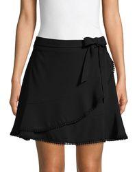 Cupcakes And Cashmere Zetta Ruffle Mini Skirt - Black